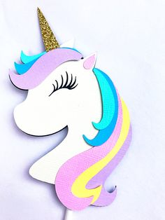 Unicorn Cup Cake toppers Unicorn Birthday Decorations 8f4bfb94075