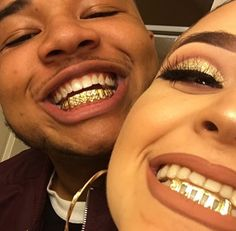 Grill gold glitter makeup relationship Goals