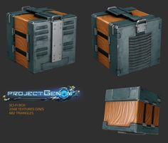 Sci-fi box for project Genom 2k textures use only for portfolio