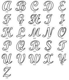 Cursive Alphabet, Hand Lettering Alphabet, Calligraphy Alphabet, Calligraphy Fonts, Letter Fonts, Pretty Fonts Alphabet, Capital Alphabet, Alphabet Letters Design, Alphabet Stencils