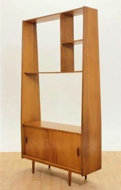 Teak Room Divider Mid Century Danish Shelving Unit Storage