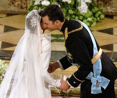 Prince Felipe and Letizia Ortiz The Bride: Letizia Ortiz, former divorced journalist. The Groom: F... - Getty