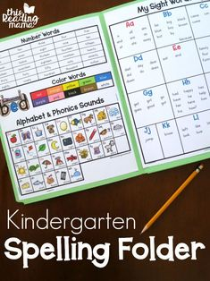 Kindergarten Spelling Folder - This Reading Mama