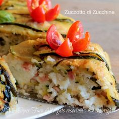 Zuccotto di zucchine timballo di riso ricetta il mio saper fare