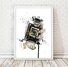 Chanel Print Chanel Perfume Poster Watercolor Coco Chanel Poster Fashion Illustration Print Watercolour Abstract Art Home Wall Decor A135 (12.00 USD) by DROPINDROP