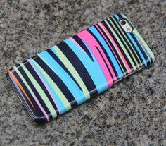 Zebra iPhone 6s case Rainbow iPhone 6 plus Case iPhone 5S 5 iPhone 5C iPhone 4S Samsung Galaxy S6 edge S6 S5 S4 Case Pink Blue Black 013