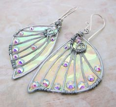 Sihaya Designs Faery Wing Earrings  Daoine Sith  by SihayaDesigns-- love her work!!
