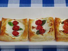 Celebration Treats 4U: Pienet vuohenjuusto-tomaattipiiraat