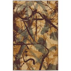 Enhance the decor in any room of your home or office with this ivory area rug. The distinctive abstract pattern of this rug will make the perfect complement to your modern decor. This rug is constructed of durable nylon for lasting use.