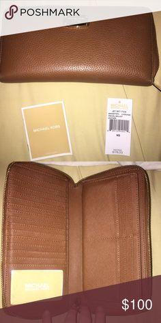 Michael Kors Wallet Camel Travel wallet Michael Kors Bags Wallets
