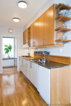 #Kitchen Idea of the Day: Modern Galley Kitchen with Two-Tone Cabinets