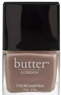 All Hail The Queen - Rock it like royalty in this opaque, holographic beige nail lacquer. I love Butter of London.  They have great colors that get me compliments wherever I lay my hands. My only complaint is sometimes there is inconsistency in the polishes depending on your color.