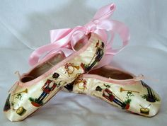 A ballet within a ballet . . . Nutcracker decoupage on a pointe shoe . . . dizzying!