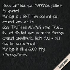 Please Dont Take Your MARRIAGE Platform For Granted Marriage Is A GIFT From