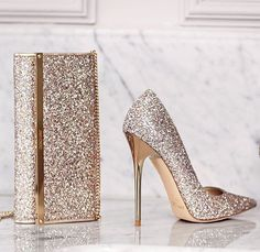 @jimmychoo latest #bridal #collection is glitter guarantee eye-catching glamour on your #bigday   Perfect with any bridal #lehnga