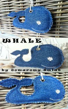 Re-use old jeans! Fabric whale:)/ Drugie życie starych jeansów - delfin :)
