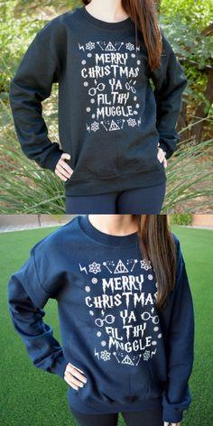 Harry Potter Filthy Muggle Ugly sweater desing, totally nerdy!  #harrypotter #filthymuggle #uglysweater #nerdy #affiliatelink