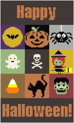 SPRE: Patterns & Design: Finishing your Halloween Block Blanket Halloween Blanket, Halloween Blocks, Halloween Pillows, Halloween Projects, Halloween Town, Baby Halloween, Graph Crochet, C2c Crochet, Crochet Blanket Patterns