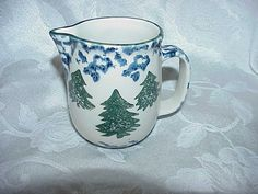 Tienshan Folk Craft Cabin In The Snow Creamer by thebestofthepast