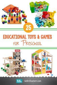 25 Best Educational Toys and Games for Preschool. Know a curious preschooler? These teacher-approved educational toys for preschool belong on your shopping list. Fun, hands-on learning! #preschool #learningathome #educationresources #teachingresources #deals #discount #classroom #classroomideas #teaching #elementaryschool Preschool Education, Preschool Games, Toddler Activities, Discounts For Teachers, Lacing Cards, Best Educational Toys, Sensory Bins, Early Childhood Education, Kids Learning