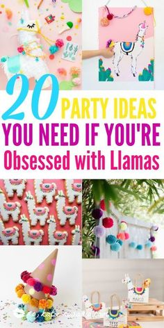 Llamas are the newest obsession and this theme seriously makes for the best parties! I am so excited to throw a llama and cactus party this summer. DIY llama party ideas are the cutest thing ever! Llama theme parties are the newest trends! 10th Birthday Parties, Birthday Party Decorations, Theme Parties, Party Favors, Fourth Birthday, Llama Birthday, Girl Birthday, Birthday Ideas, Birthday Stuff