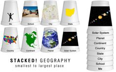 Ways to use styrofoam cups to teach math, english language arts, social studies, and science! Geography Activities, Teaching Geography, World Geography, Classroom Activities, Preschool Activities, History Education, Teaching History, Student Teaching, Preschool Social Studies