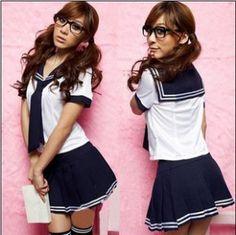 Japanese School Uniform Turn-down Collar Short Sleeve Sailor Tops + Skirt Navy School Style College Students Costume For Girl Fancy Dress Outfits, Cool Outfits, High Level, School Girl Fancy Dress, Student Costume, New Halloween Costumes, Halloween Ideas, Summer School Outfits, Costumes
