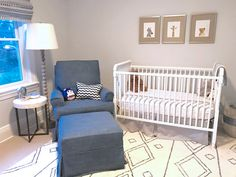 Project Nursery - Blue and Gray Jungle Safari Nursery