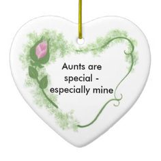 Aunt Ceramic Ornament