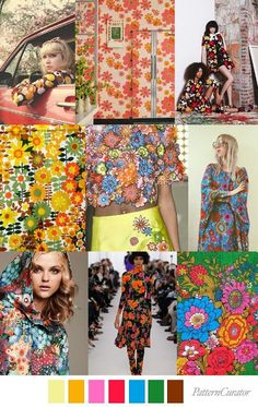 "WOMEN FASHION TRENDS 2017/2018: SS 2018 WOMEN COLOUR & PRINT TRENDS ""BRADY BUNCH"" ..."