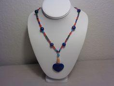 Beautiful Beaded Beads With Lapis Lazuli Pendant Necklace