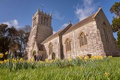 St Andrews church on the Lulworth Estate in Dorset #churchwedding #lulworthwedding #dorsetwedding