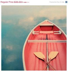Nature Photography - Beach Photograph - Canoe - Paddle - Michigan - Great Lakes - Fine Art - Floating On A Cloud on Etsy, $31.50