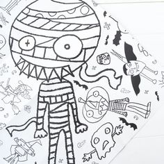 Colour this giant poster in before your party or have as an activity at the party. Either way you'll provide some much needed therapy on a scary night! Halloween Themes, Halloween Party, Interesting Animals, Coloring Pages, Colouring, Wicked Witch, Coloured Pencils, Halloween Coloring, Little Monsters