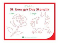 these st georges day stencils are a perfect craft activity for your children to complete - Colour In Stencils