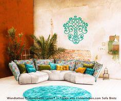 Lebensbaum Lotus Sofa Bretz Yoga Studio Design, Yoga Inspiration, Feng Shui, Unique Living Room Furniture, Yoga Lifestyle, Ayurveda, Lotus, Sweet Home, Tapestry