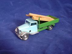 Tri-Ang Minic WINDUP TIN LUMBER TRUCK BLUE GREEN Cockwork | eBay