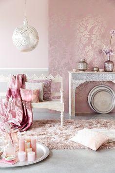 pink decoration, home interior trends Moroccan Interiors, Room Interior, Living Room Decor, Pink Decor, Home Decor, House Interior, Home Deco, Room Decor, Bedroom Decor