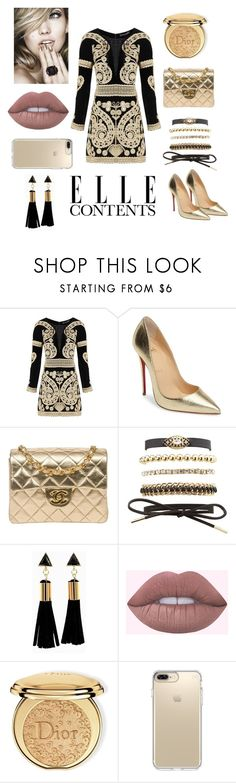 """""""Modern Renaissance"""" by maridol ❤ liked on Polyvore featuring For Love & Lemons, Christian Louboutin, Chanel, Charlotte Russe, Christian Dior, Speck and modern"""
