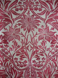 Ideas for wallpaper red pattern william morris William Morris Wallpaper, William Morris Art, Morris Wallpapers, Red Pattern, Pattern Paper, Pattern Design, Art And Craft Design, Design Crafts, Textures Patterns