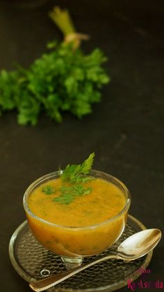 Parsley Root Tomato Veggie Clear Soup