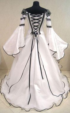 Halloween Wedding Dresses | Medieval Wedding Dress Goth Renaissance S M 6 8 10 Larp Pirate Costume ...