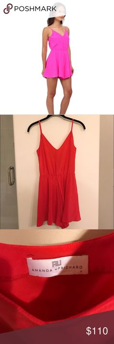 Amanda Uprichard Circle Short Romper (P) P | red | like new condition | silk / straps are not adjustable | offers welcome xx Amanda Uprichard Dresses