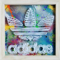 Large Adidas TREFOIL 3D Pin Artwork. Original by MozartCircus