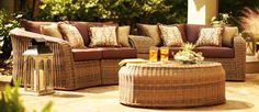 The Round Hill Collection's 6-piece sectional seating set from Thomasville Outdoor