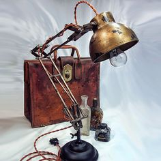 Architects Lamp - Steampunk - Industrial lamp - Desk Lamp - Table Lamp - Edison Light