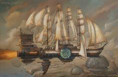 "Steampunk Tendencies | ""The frigate of Vistulian Guild's Merchants"" - 2014. by Jarosław Jaśnikowski https://www.facebook.com/groups/steampunktendencies/permalink/662682910452815/"