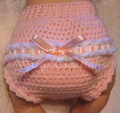 Ribbon Diaper Cover PDF CROCHET PATTERN 0 to 6 months by Easy Creations