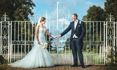 Our white gate is a perfect spot for photos at Parklands, Quendon Hall