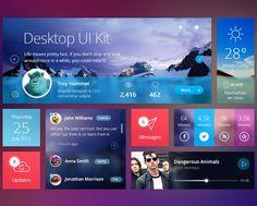 Flat Desktop Psd UI Kit | Mobile Apps | Pixeden
